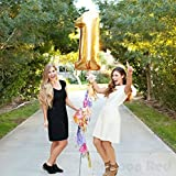 40 Inch Giant Jumbo Helium Foil Mylar Balloons (Premium Quality), Glossy Gold, Number 1