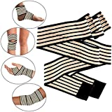 All In One Copper Support Wrap - Joint Support For Men & Women - Cross Training, Gym, Basketball, Workout, Weightlifting...
