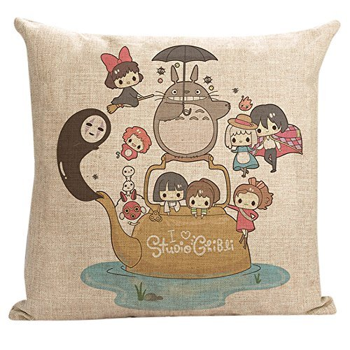 totoro throw Pillows