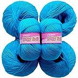 Vardhman Acrylic Knitting Wool, Pack Of 6 (Azure) (Pack Of 8 )