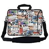 Meffort Inc 15 15.6 Inch Neoprene Laptop Bag Sleeve With Extra Side Pocket Soft Carrying Handle & Removable Shoulder...