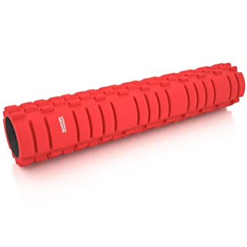 Master of Muscle Unisex Foam Roller for Revolutionary Muscle Massage for Physical Therapy & Exercise with E-Book Instructions, 24 by 5- Inch. (hollow core, 24 inch)