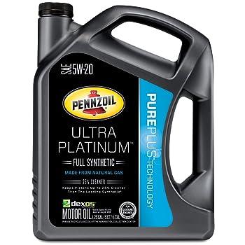 Pennzoil 550038330 Ultra Platinum 5W-20 Full Synthetic Motor Oil- 5 Quart Jug