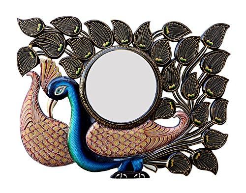 Divraya Wood Peacock Wall Mirror (60.96 Cm X 4 Cm X 45.72 Cm)