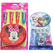Minnie Mouse Childrens Lip Gloss Set With Disney Frozen Nail Kit