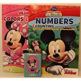 Disney Preschool Learning Gift (3 Items): Mickey Mouse Numbers & Counting Minnie Mouse Colors & Shapes Learning...
