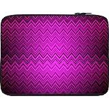 Snoogg Purple Wave Pattern 2426 10 To 10.6 Inch Laptop Netbook Notebook Slipcase Sleeve