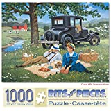 Bits and Pieces - 1000 Piece Jigsaw Puzzle for Adults - Good Ole Summertime - 1000 pc Summer Picnic Jigsaw by Artist John Sloane