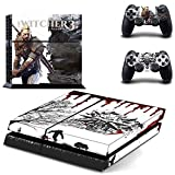 Beyone Vinyl Decal Protective Skin Cover Sticker For Sony PS4 Console And 2 Dualshock Controllers - The Witcher... - B015147J08