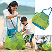 AnHua®Beach Tote Bag Sand Away Kids Toddler Toys Bags, Beach Towel, Clothes,all Mesh Swimming Clothes Beach Balls...