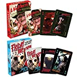 Classic Horror Films Nightmare On Elm Street & Friday The 13th Playing Cards