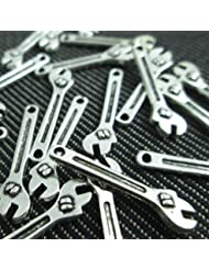 15 Wrench Charms Antique Silver Tone 3d Tools Charms (NS310)