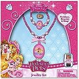 Disney Princess Jewelry Box Set With Beaded Necklace, Beaded Bracelet & Ring
