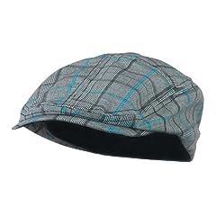 Fashion Plaid Ivy Cap - Blue W10S69F