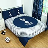 Tottenham Hotspur Official Reversible Double Duvet Cover Set - Blue/White