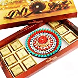 Ghasitaram Gifts Chocolates - Brown Chocolate Hamper With Muticolour Floater