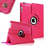 Fintie IPad Air 360 Degree Rotating Case For Apple IPad 5 Air (5th Gen) Vegan Leather Multi Angle Stand - Crocodile...