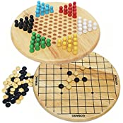 Lewo Deluxe 2 In 1 Wooden Chinese Checkers Set Board Game Education Toy For Kids