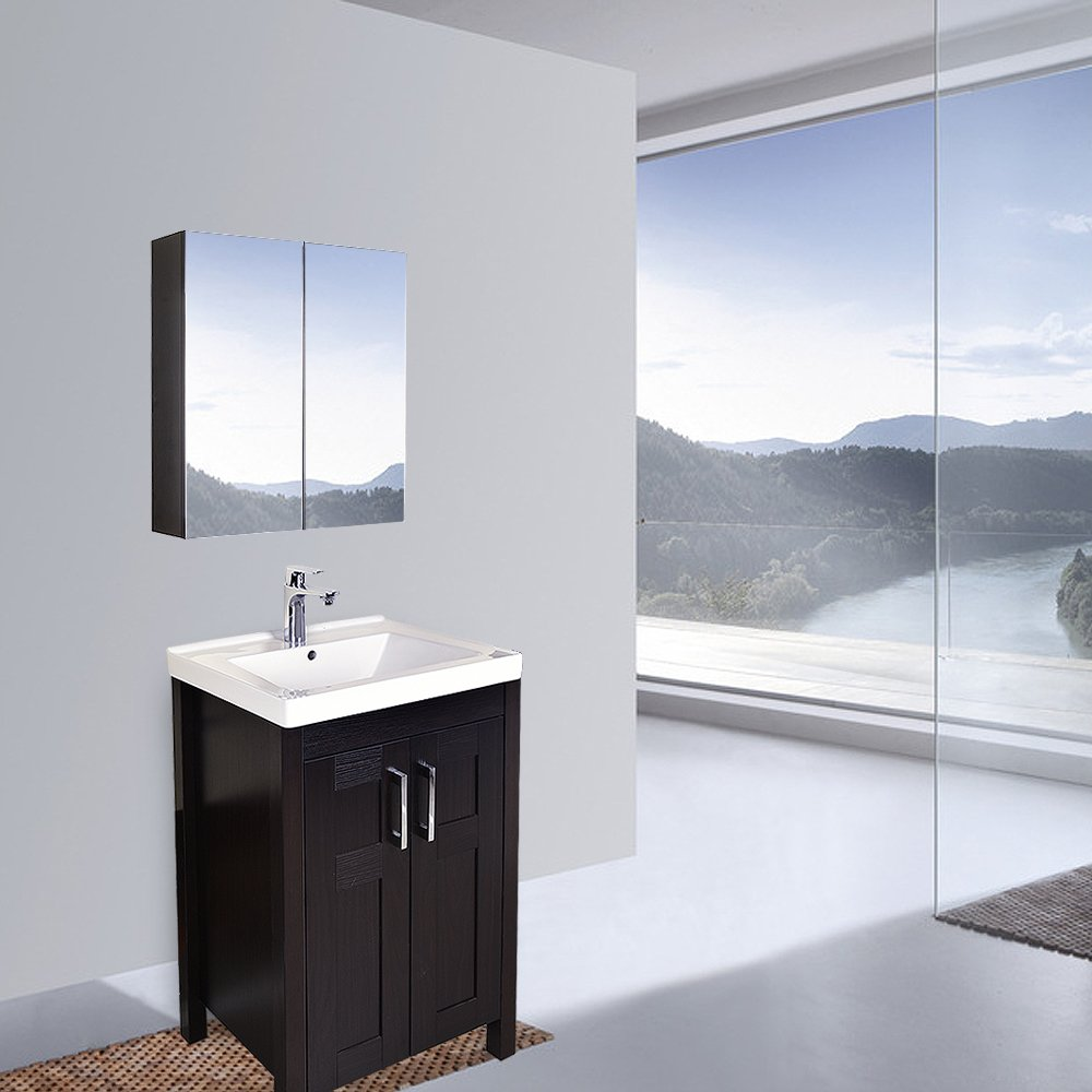 wide mirrored bathroom cabinet elecwish 24 quot wide wall mount mirrored bathroom medicine 29282