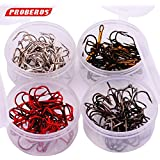 Generic Brown, 10 : 20pc/Box Fishing Hook 4 Color Black/Brown/White/Red 2/4/6/8/10# Fishhook High Carbon Steel Treble Hooks Fishing Tackle