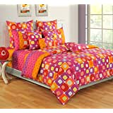 Swayam Colors Of Life Printed Cotton Single Bedsheet With 1 Pillow Cover - Multicolor (SBS11-2414)