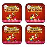 MeSleep Happy Raksha Bandhan Wooden Coaster-Set Of 4