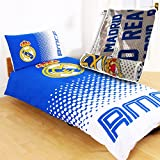 Real Madrid Fade Design Reversible Double Duvet Set with Impact Fleece Blanket Combo
