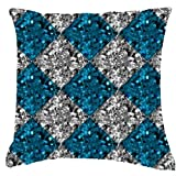 "Cherry Homes,DIGITAL PRINT CUSHION COVER SET - Interior Based Contemporary Print Cushions (size:16""x16"")- Pack..."