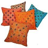 Ufc Mart Sitara Work Handmade Cushion Cover 5 Pc. Set, Color: Multi-Color, #Ufc00443