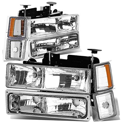 Chevy C/K-Series GMT400 Facelifted Chrome Headlight+Bumper Light+Amber Lens Corner