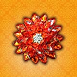 Prime Exquisite Floating Lotus Ganesh Chaturthi Special Traditional Gift Exquisite Hand Crafted Festive Home Decor Crystal Floating Lotus With Pearls