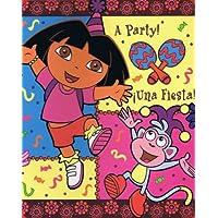 Dora The Explorer Party Time Fleece Throw Blanket - Oversized 50 X 60