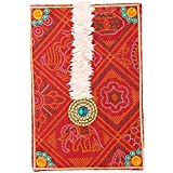 Ved Indian Heritage Hollow Fiber Sweet Box (40 Cm X 25 Cm X 02 Cm, Red)