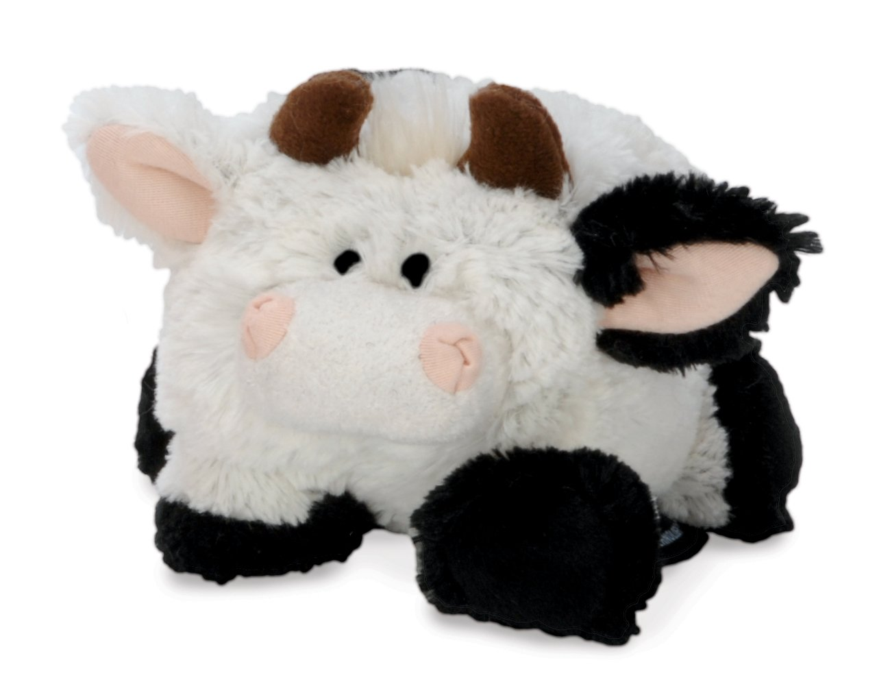 goDog Puppy Tough Ball Cow Style Dog Toy with Chew Guard