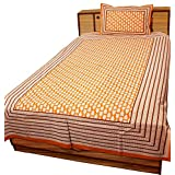 Halowishes Traditional Floral And Leafy Print Single Bed Sheet