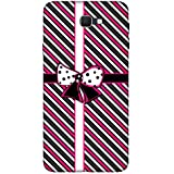 For Samsung Galaxy J5 (2017) Stripes Pattern ( Stripes Pattern, Pattern, Stripes, Ribbon, Black Background ) Printed Designer Back Case Cover By FashionCops