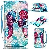 6S Plus Case,iPhone 6S Plus Case,With Strap Wristlet Slim PU Leather Case Wallet Cases Magnetic Closure Case For... - B019C3GRE8