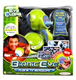 Jakks Pacific Year 2008 EyeClops Series Plug-In TV Microscope - BIONIC EYE with Multi-Zoom Adjustable Magnification (100x, 200x and 400x) Plus I.R.I.S Lens Attachment, Viewing Tube, Viewing Dish, Base and Bonus Pirate Treasure Map