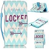 6S Plus Case,iPhone 6S Plus Case,With Strap Wristlet Slim PU Leather Case Wallet Cases Magnetic Closure Case For... - B019C3GSYC