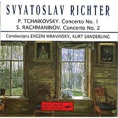リヒテル独奏 ムラヴィンスキー&ザンデルリンク指揮 チャイコフスキー:ピアノ協奏曲第1番&ラフマニノフ:同第2番の商品写真