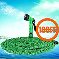 Durable 100 FT Expandabl Garden Water Hose Pipe W/ Spray Flexible Latex Nozzle
