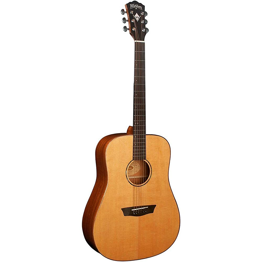 Washburn Solid Wood Series WD160SW Dreadnought Acoustic Guitar, Natural - best acoustic guitar for beginners under 500