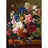 Vitalwalls Flowers In A Vase Painting (Static-108-45, Canvas Print, 45 Cm X 60 Cm)
