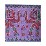 Rajrang Home Décor Cotton Patch Work Violet Wall Hanging Tapestry