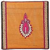 Ved Indian Heritage Hollow Fiber Sweet Box (40 Cm X 25 Cm X 02 Cm, Yellow & Saffron)