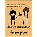 "Incredible Gifts- Crazy Shape Cake Quote Engraved Wooden Birthday Gift Plaque (5""x4"")"