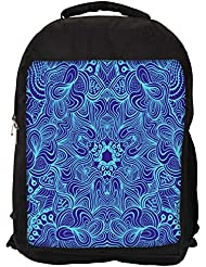 """Snoogg Blue And Purple Casual Laptop Backpak Fits All 15 - 15.6"""" Inch Laptops"""