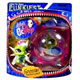 Hasbro Year 2007 Littlest Pet Shop Special Edition Pet PUNKIEST Series Bobble Head Pet Figure Set - Punk CATERPILLAR...