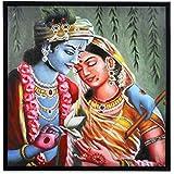 @Home Radha And Krishana Wood Picture Frame (3.99 Cm X 84.99 Cm X 84.99 Cm)