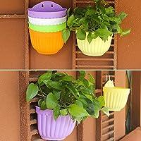 Plastic Flower Pots Hanging Garden #B Basket Plant Planter Home Decor Green New